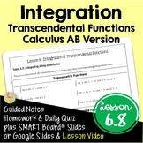 Integration of Transcendental Functions (Calculus - Unit 4)