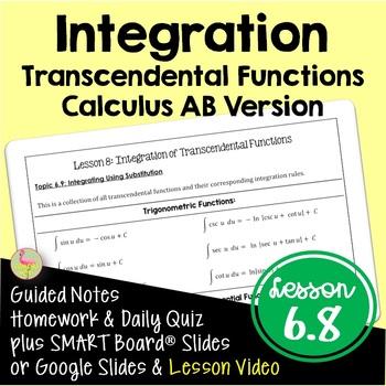 Calculus: Integration of Transcendental Functions