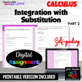 Calculus Integration with Substitution  Assessment with Google™ Forms Part 2