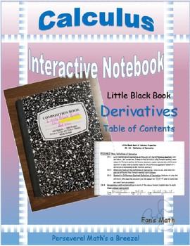 Calculus Interactive Notebook 2: Derivatives