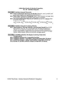 Calculus Interactive Notebook 4: Integration