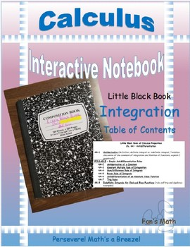 Calculus Interactive Notebook 4: Integration