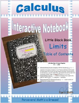 Calculus Interactive Notebook 1: Limits