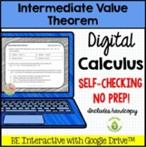 Intermediate Value Theorem Daily Quiz for Google Slides™ (