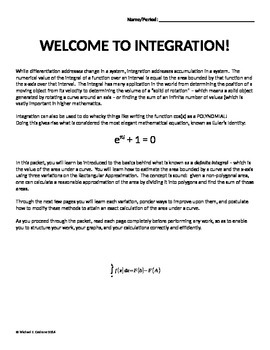 Calculus Introduction to Definite Integrals using RAM
