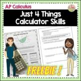 Calculus Just 4 Things Calculator Skills Freebie