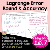 Lagrange Error Bound and Accuracy (Calculus 2 - Unit 10)