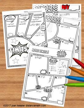 Calculus Limits Comic Book Doodle Notes