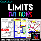 Calculus Limits Comic Book No Prep FUN Notes