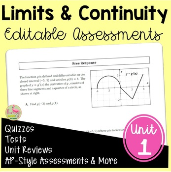 Calculus: Limits and Continuity Assessments