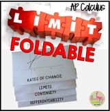 Calculus Limits Foldable Continuity Differentiability (Unit 1)