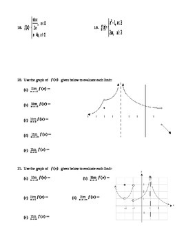 Calculus:  Limits & Continuity Test