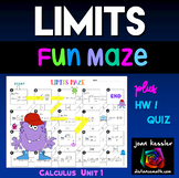 Calculus Limits Maze plus HW