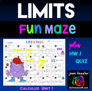 Calculus Limits Maze plus HW