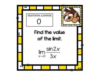 Calculus Limits Review Scavenger Hunt