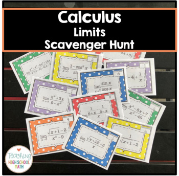 Calculus Limits Scavenger Hunt