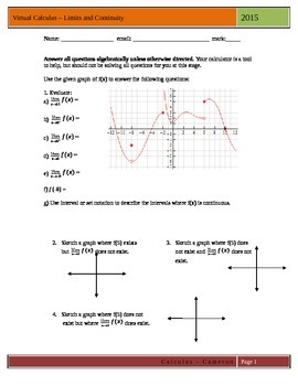 Calculus Limits and Continuity Assignment