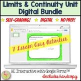 Limits and Continuity Daily Quiz Bundle for Google Slides™ (Calculus - Unit 1)