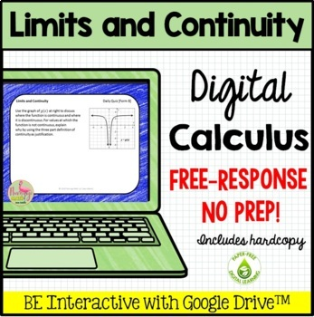 Calculus: Limits and Continuity Daily Quiz Google Edition