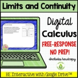 Limits and Continuity Daily Quiz Google Edition  (Calculus - Unit 1)