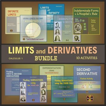 CALCULUS Differentiation : Limits and Derivatives Activities BUNDLE