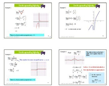 Calculus:  Limits at Infinity - Horizontal Asymptotes PowerPoint Lesson