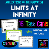 Calculus Limits at Infinity Horizontal Asymptotes Task Cards HW QR