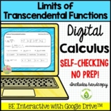 Limits of Transcendental Functions Daily Quiz Google Edition (Calculus - Unit 1)