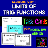 Calculus Limits of Trig Functions Task Cards  Guided Notes HW