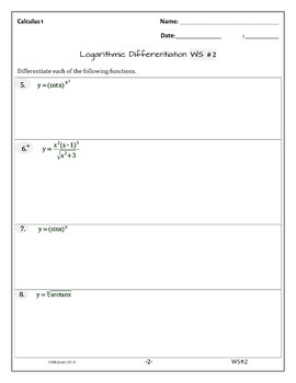 Calculus Derivatives LOGARITHMIC DIFFERENTIATION ( 24 problems - solutions )