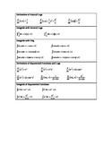 Calculus:  Logs & Exponentials Derivatives/Integrals Handout