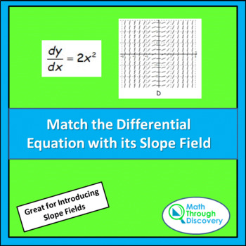 Calculus:  Match the Differential Equation with its Slope Field