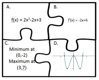 Calculus Maximum and Minimum Puzzles