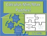 Calculus Maximum and Minimum Puzzles