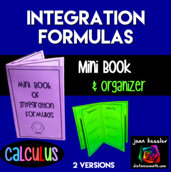 Calculus Mini Book of Integration Formulas