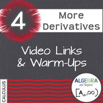 Calculus: More Derivatives - Warm-Ups