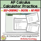AP Calculus Exam Review Calculator Practice for Google Forms™ Distance Learning