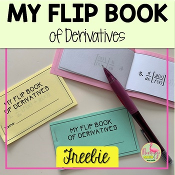 Calculus: My Derivative Flip Book Freebie
