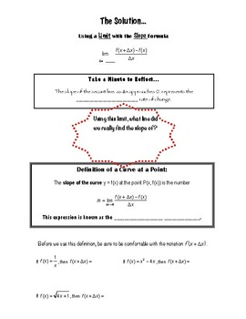Calculus Notes 2.1 - The Derivative & the Tangent Line