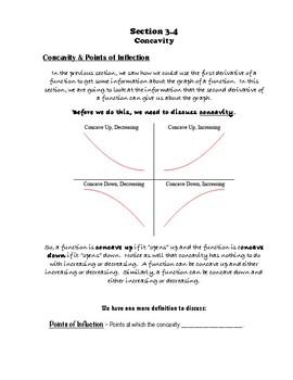 Calculus Notes 3.4 - Concavity