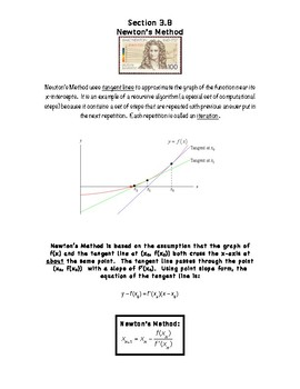 Calculus Notes 3.8 - Newton's Method