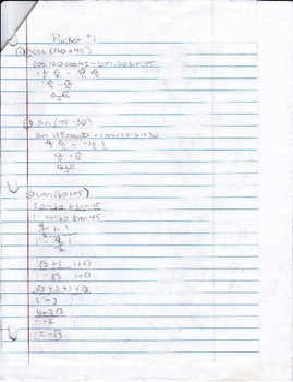 Calculus Packet #1