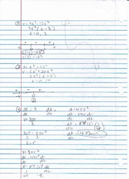 Calculus Packet #10