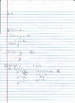 Calculus Packet #13