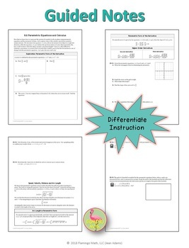 Calculus: Parametric Equations and Calculus