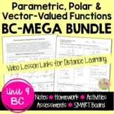 Parametrics Polars and Vectors MEGA Bundle (Calculus 2 - Unit 8)