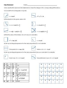 Calculus Polar Fun Worksheet