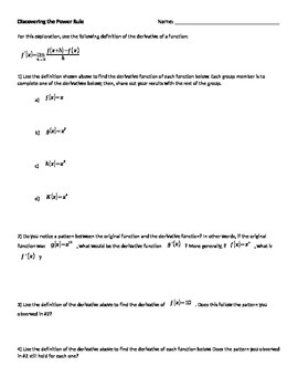 Calculus Power Rule Discovery