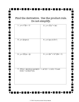 26 Product And Quotient Rule Worksheet   Free Worksheet ...