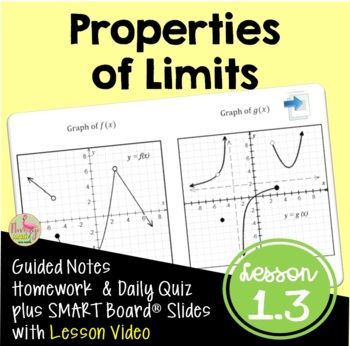 Properties of Limits (Calculus - Unit 1)